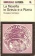 Cover of La filosofia in Grecia e a Roma