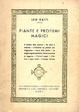 Cover of Piante e profumi magici
