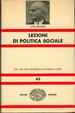 Cover of Lezioni di politica sociale