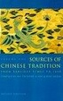 Cover of Sources of Chinese Tradition, Vol. 1