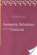 Cover of Semantic relations and the lexicon