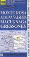 Cover of Monte Rosa, Alagna Valsesia, Macugnaga, Gressoney 1:25.000. Carta dei sentieri e dei rifugi. Serie monti