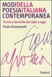 Cover of Modi della poesia italiana contemporanea