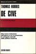 Cover of De Cive