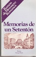 Cover of Memorias de un setentón