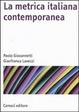 Cover of La metrica italiana contemporanea