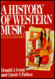 Cover of A History of Western Music