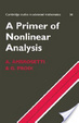 Cover of A Primer of Nonlinear Analysis