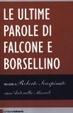 Cover of Le ultime parole di Falcone e Borsellino
