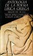 Cover of Antología de la poesía lírica Griega