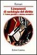 Cover of Lineamenti di sociologia del diritto / Azione giuridica e sistema operativo