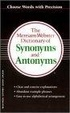 Cover of The Merriam-Webster Dictionary of Synonyms and Antonyms