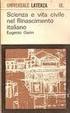 Cover of Scienza e vita civile nel Rinascimento italiano