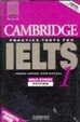 Cover of Cambridge Practice Tests for IELTS 1 Cassette set