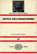 Cover of Critica dell'anarchismo
