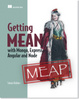 Cover of Getting MEAN with Mongo, Express, Angular, and Node
