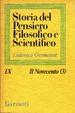 Cover of Storia del Pensiero Filosofico e Scientifico IX