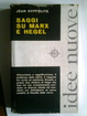 Cover of Saggi su Marx e Hegel