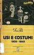 Cover of Usi e costumi