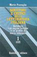 Cover of Scrittori e critici della letteratura italiana antologia con pagine critiche e un profilo di storia letteraria