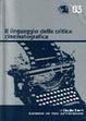 Cover of Il linguaggio della critica cinematografica