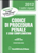 Cover of Codice di procedura penale e leggi complementari