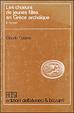 Cover of Les choeurs de jeunes filles en Grèce archaïque