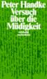 Cover of Versuch Uber Die Mudigkeit
