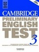 Cover of Cambridge Preliminary English Test 3 Student's Book