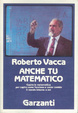 Cover of Anche tu matematico