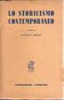 Cover of Lo storicismo contemporaneo
