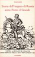 Cover of Storia dell'impero di Russia sotto Pietro il Grande