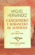 Cover of CANCIONERO Y ROMANCERO DE AUSENCIAS
