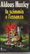 Cover of La scimmia e l'essenza