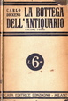 Cover of La bottega dell'antiquario Vol I