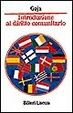 Cover of Introduzione al diritto comunitario