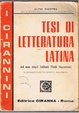 Cover of Tesi di letteratura latina