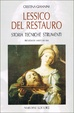 Cover of Lessico del restauro