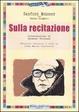 Cover of Sulla recitazione