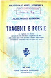 Cover of Tragedie e Poesie
