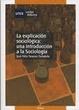 Cover of La explicación sociológica