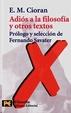 Cover of Adiós a la filosofía y otros textos