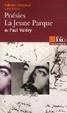 Cover of Poésies; la jeune Parque de Paul Valéry