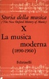Cover of Storia della Musica - The New Oxford History of Music