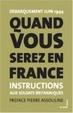 Cover of Quand vous serez en France