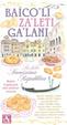 Cover of Baicoli. Zaleti. Galani. La dolce serenissima repubblica. Ricette di pasticceria della tradizione veneziana