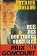 Cover of Rue des boutiques obscures