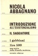 Cover of Introduzione all'esistenzialismo