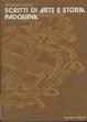 Cover of Scritti di arte e storia padovana
