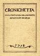 Cover of Cronichetta